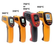 Digital Infrared Thermometer Red Laser Temperature Meter Detector Non Contact IR Pyrometer LCD Temperature Meter Gun Point