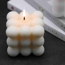 Fragrance Candle Cube-Wax Decoration Rose Geometric Creative Home Scented 1pc