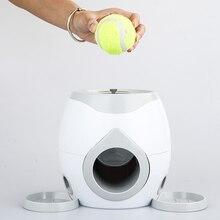Pet köpek yavrusu interaktif Fetch topu eğitim beyzbol ödül makinesi tenis Pet komik oyuncaklar küçük hayvanlar için