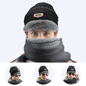 Image 3 - ファッション男性暖かいニット冬の帽子ソフト帽子skulliesビーニー冬の帽子ユニセックス秋冬ニットキャップ6色