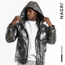 NAGRI 2020 New fashion winter reflective fashion mens jacket thick warm streetwear casual hooded jackets coat 19Y131