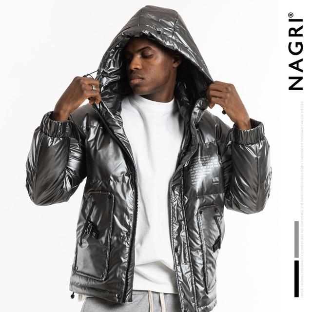 Nagri 2020 Nieuwe Mode Winter Reflecterende Mode Heren Jas Dikke Warme Streetwear Casual Hooded Jassen Jas 19Y131
