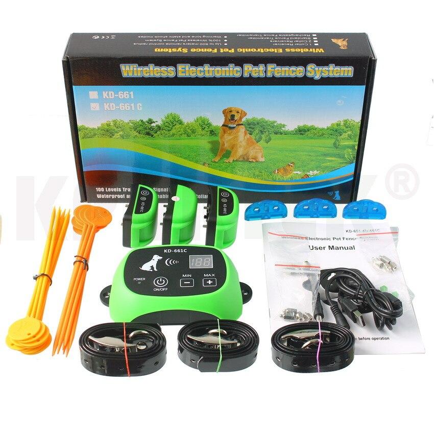 Электронный ошейник для собак для ограждения, система удержания, водостойкий забор с 1 ошейником 100g2280