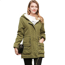 2019 Womens Trench Coat Winter New Lamb Wool Female Ladies Hooded Cotton Long Sleeve Women Clothes for