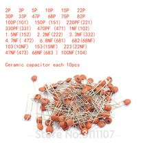 300PCS/LOT 2PF-0.1UF 30valuesX10pcs=300pcs, Ceramic capacitor,Electronic Components Package,ceramic capacitor Assorted Kit