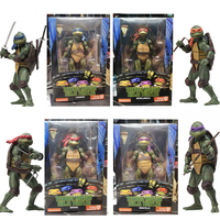 18cm NECA Leonardo Donatello Michelangelo Raphael PVC Action Figure Toy Gift