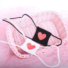 Women Anime Cosplay Costume Eyeshade Heart Embroidery Single Eye Mask Blindfold F3MF