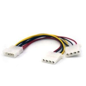 18cm 2 Way 4 pin PSU Power Splitter IDE Cable LP4 Molex 1 to 2 Extension Wire Computer Cables Connectors #1010