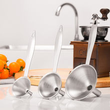 3 pçs casa cozinha mini funil de aço inoxidável para todos os tipos de frascos hip criativo funil doméstico líquido ferramentas cozinha