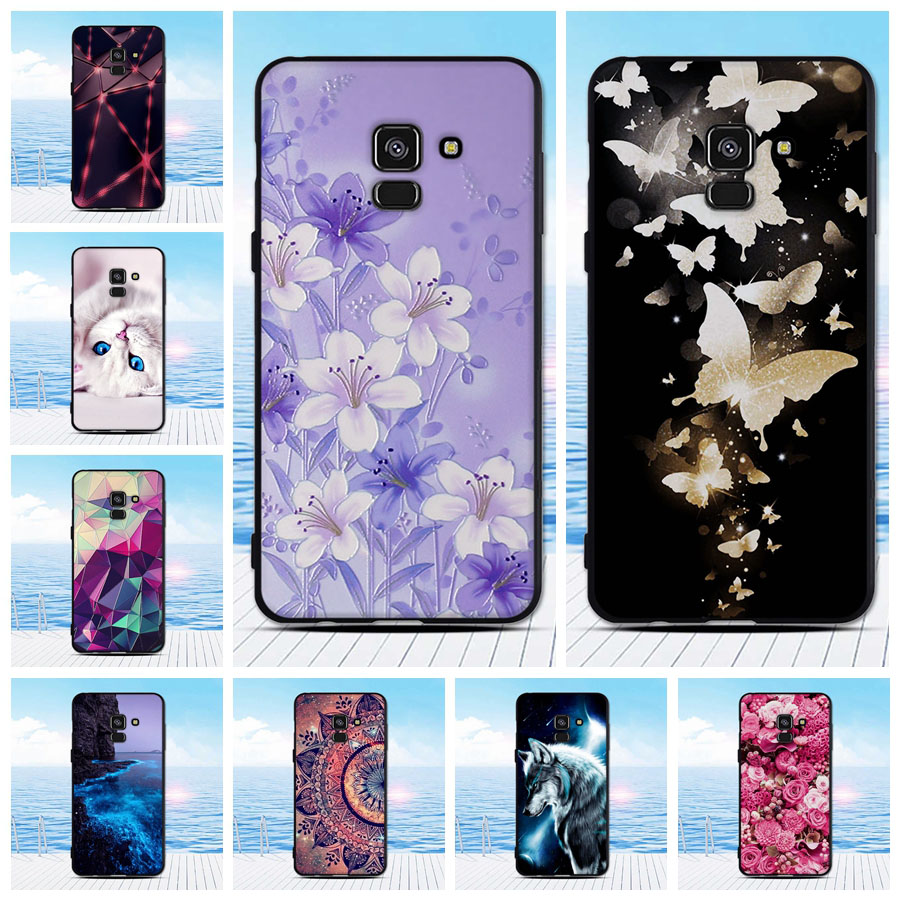 For <font><b>Samsung</b></font> galaxy A8 2018 Phone <font><b>Cover</b></font> Case Soft Silicone Back <font><b>Cover</b></font> Protective Printed Funda For <font><b>Samsung</b></font> A8 2018 A530 <font><b>A530F</b></font> image