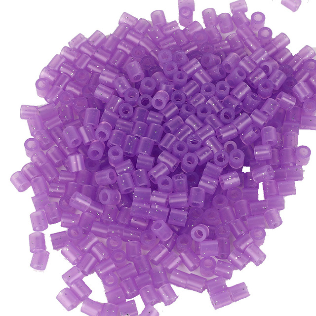 JINLETONG 1000Pcs Glitter Hama Beads 5mm DIY 3d puzzle Glitter hama fuse beads toys for children Puzzles fuse beads toys 9colors 2