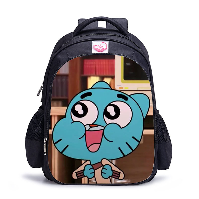 16 Inch The Amazing World Of Gumball Backpack For Children School Bags Cartoon Game Book Backpack Daily School Backpack Gift