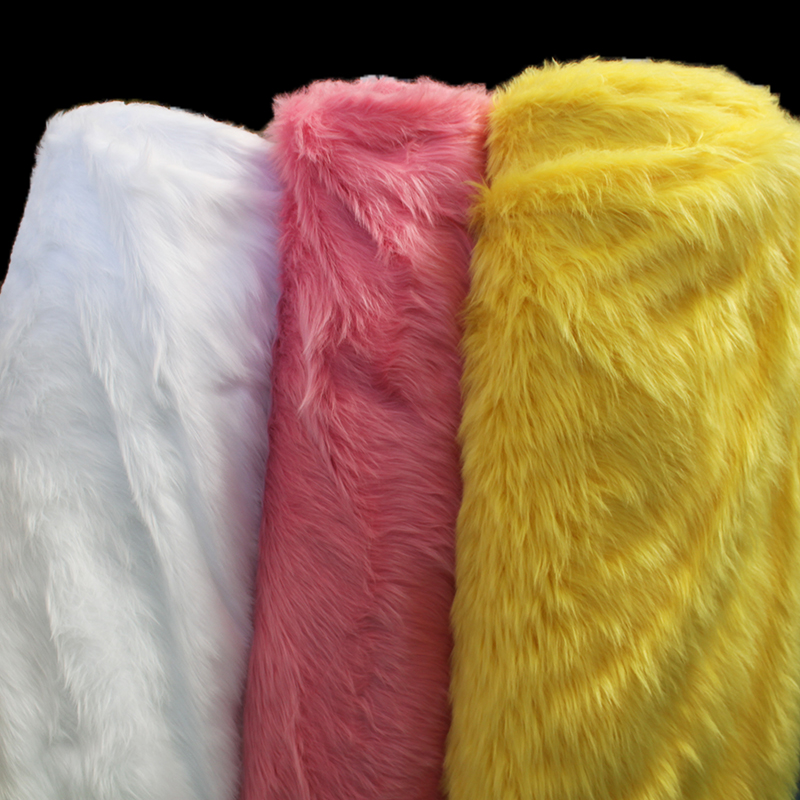 9cm red yellow camel plush fabric Cosplay clothing props counter diy fur fabric 0.5MX1.5M