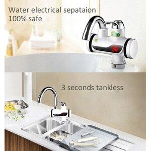 Image 4 - 3000W טמפרטורת תצוגת ברז מים חמים מיידי Tankless חשמלי ברז מטבח מיידי חם ברז דוד מים חימום