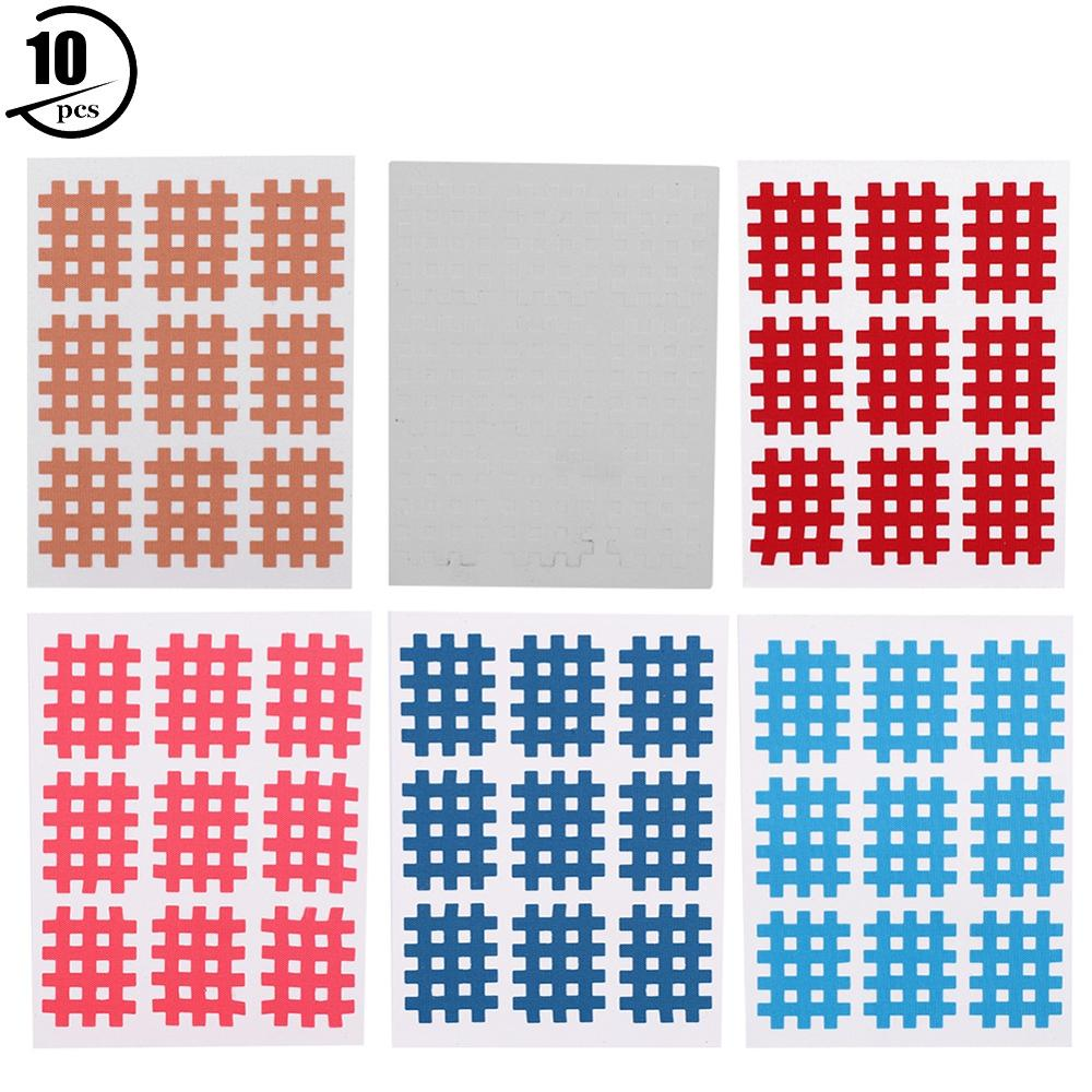 6 Color 10 PCS Medical Breathable Sports Tape Adjust Muscle Ligaments Prevent Joint Damage Cross Physiotherapy Muscle Patch Tool