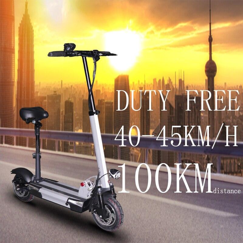Plus de 100km adulte Scooter électrique avec siège 48v 500w pliable hoverboard nouveau 48v 26a e scooter électrique coup de pied scooter