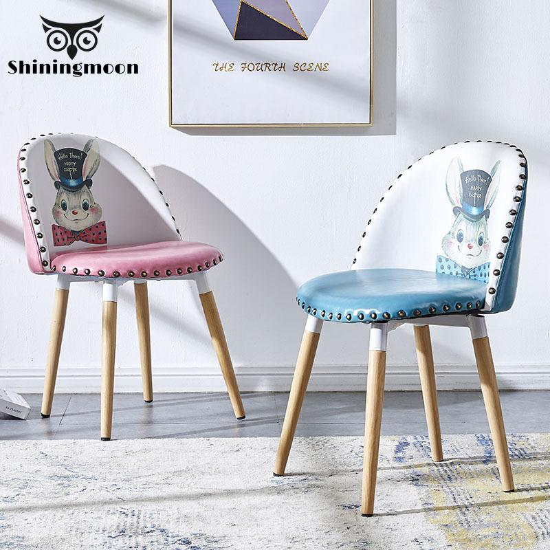Cartoon Disney Style Upholstered Chair Contemporary Children Chair Furniture Leather Chair Dining Chairs for Dining Rooms|  - title=