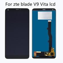 """5.45 """"עבור ZTE להב V9 Vita LCD תצוגת מסך מגע זכוכית פנל Digitizer החלפת אביזרים ZTE V9 vita ערכת תיקון"""