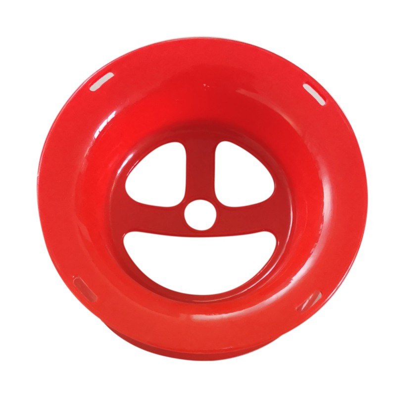 Fishing Line Winding Disc Interesting Style Smiling Face Pattern Handheld Hand Wheel Coil Plate For Outdoor Fishing Kite Flying