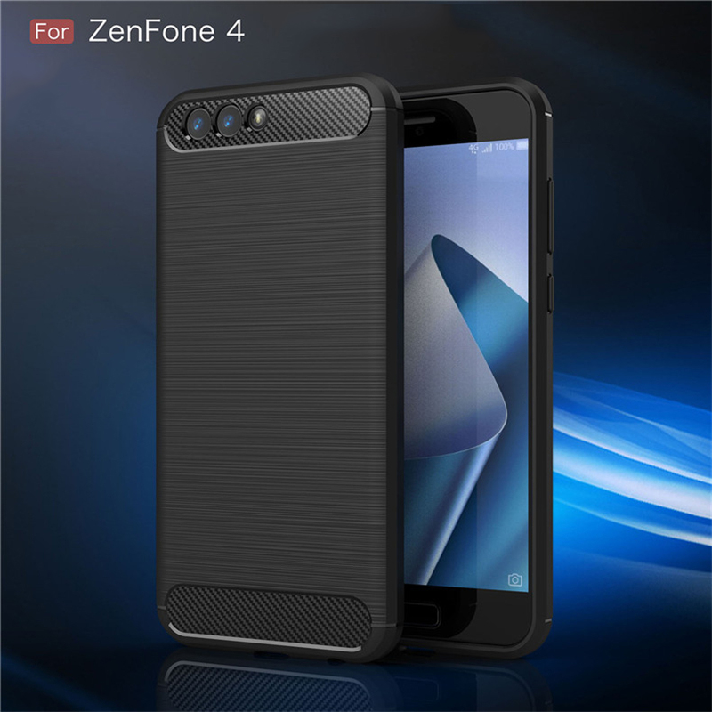 Carbon Fiber Armor <font><b>Case</b></font> For <font><b>ASUS</b></font> <font><b>Zenfone</b></font> 5 Lite <font><b>4</b></font> <font><b>Selfie</b></font> 3 Zoom Max Pro Plus M1 M2 Live L1 ZB601KL Bumper Anti-knock TPU Covers image