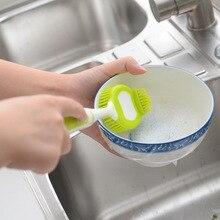 Кухонная силикагелевая щетка для чистки кастрюль полезный продукт мытье посуды щетка для посуды многофункциональная дезактивация длинная рука