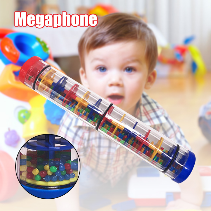 Rainbow Hourglasses Rainmaker Rain Stick Raindrop Sound Musical Toy For Kids Portable YH-17