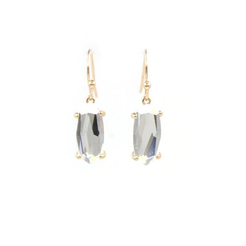 gold clear Earrings