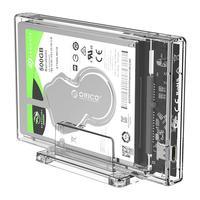ORICO 2 5 zoll Transparent HDD Fall USB 3 1 Typ C zu SATA Externe Festplatte Gehäuse SSD Disk HDD Box mit Stand 2159C3-G2