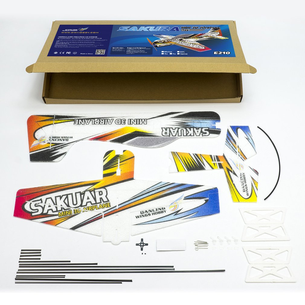 RC EPP Micro Indoor 3D F3P Airplane Sakura Radio Controlled Electric Plane 420mm Wingspan Unassembled Need to Build Aeroplane Ah