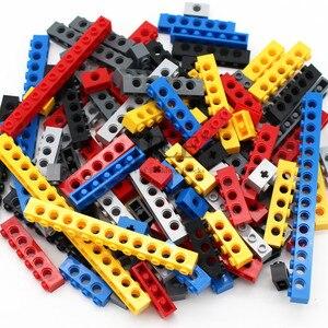 Image 1 - Moc Technic di Mattoni con Foro Lungo Travi FAI DA TE di Spessore Building Block Misto Bulk Compatibile Monta Il Blocchetto Delle Particelle di Scienza Meccanico