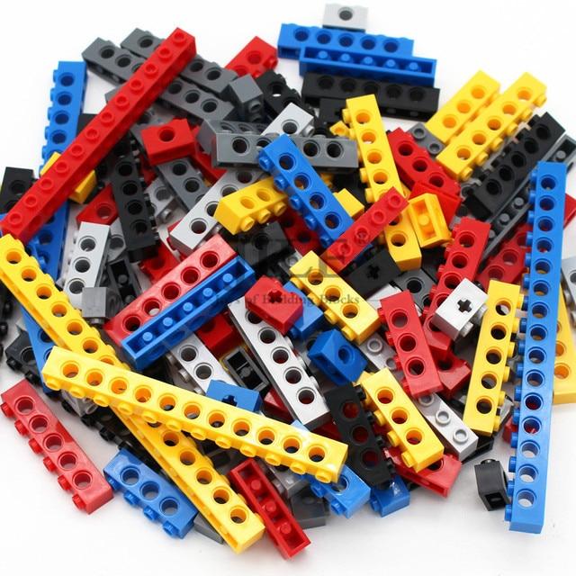 Moc Technic di Mattoni con Foro Lungo Travi FAI DA TE di Spessore Building Block Misto Bulk Compatibile Monta Il Blocchetto Delle Particelle di Scienza Meccanico