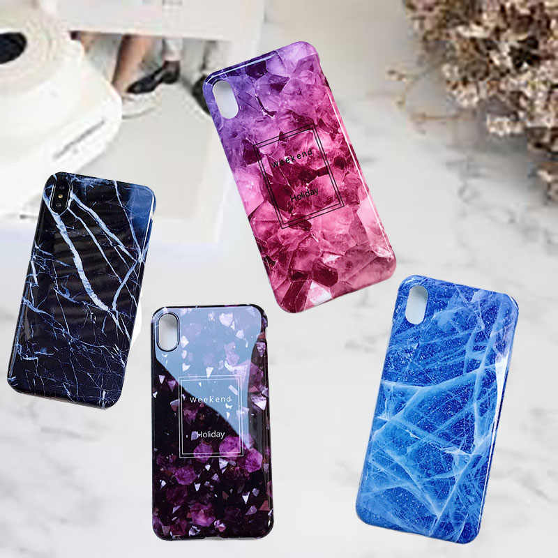 Luxury Marble Case For iPhone 6 6S 7 8 Plus X XS Max XR Silicone Phone Case Cover Sticky Holder For iPhone 10 6 S Case Coque