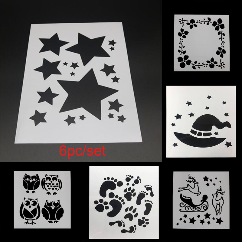 Star Stencil Layering Stencil Painting Accessories Templates Stencils For Diy Scrapbooking Plastic Reusable Template Schablone