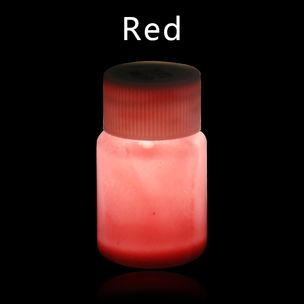 20g Red Luminous Paint Glow In The Dark For Halloween Christmas Party Nail Decoration Art Supplies Phosphor Paint Acrylic Paint