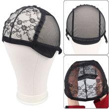 Adjustable Wig Caps for Making Wigs Black/Brown Hairnet Free size Mesh Weaving Wig Tools Weave Wig Cap Hair Net