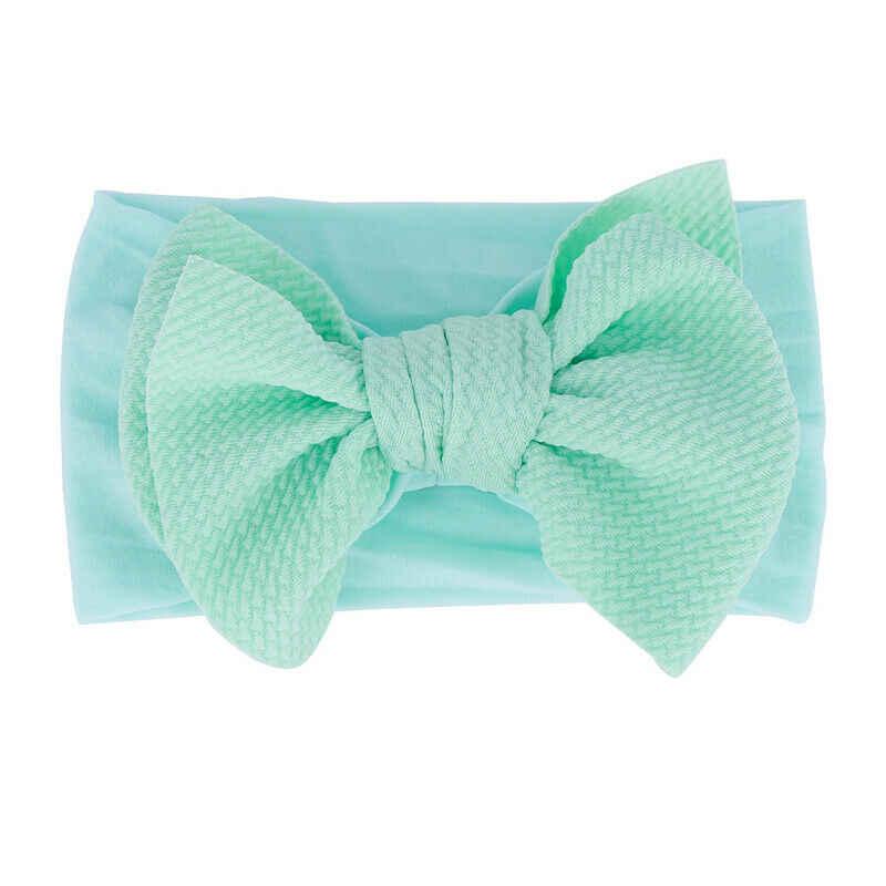 아기 액세서리 유아 아기 소녀 귀여운 소프트 보우 머리띠 신생아 단단한 머리 장식 머리 장식 나일론 탄성 헤어 밴드 선물 소품