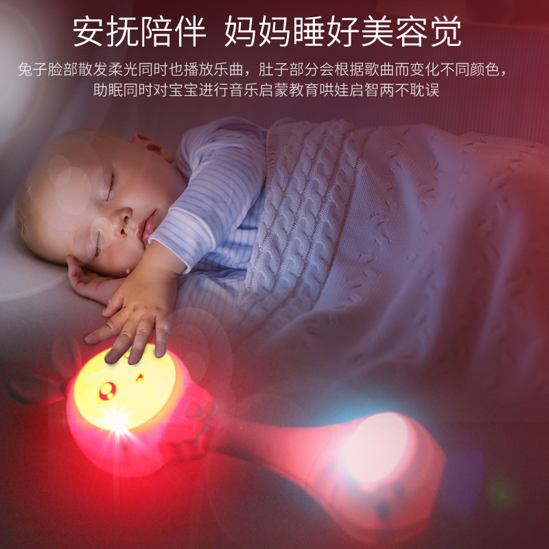 Baby Toys 3-7 Month Five Eight Primary Rattle Baby Music Kids Hand Mainland China-Bite Have 0-1-Year-Old