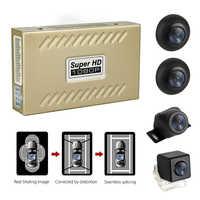 Sistema panorámico DVR Universal para coche, 360 °, 1080P, visión nocturna, 4 cámaras con Sensor de choque