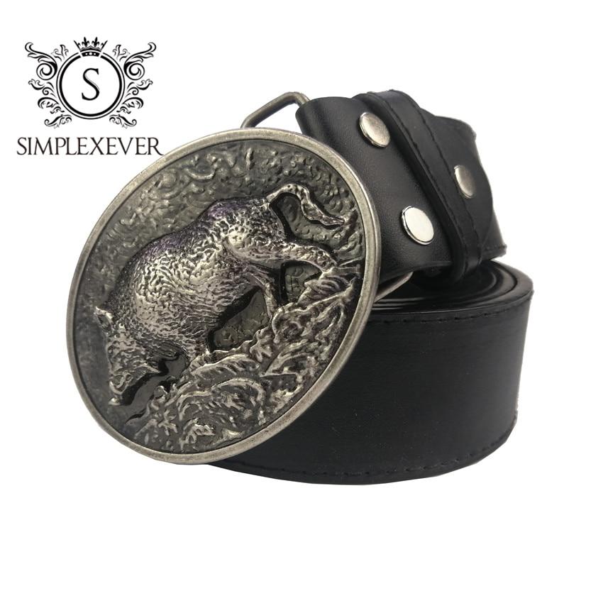 Mens Novelty Pig Belt Buckle Metal Oval Animal Style Belt Buckles Cowboy Boucle Ceinture For 4cm Belts Cute Hebilla Buckles