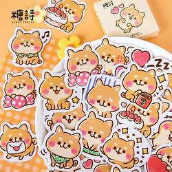 Shiba Inu Paper Stickers Kawaii Puppy Dog Stationery Stickers Scrapbooking Decorative Stickers Set Daily Planner Bullet Journal