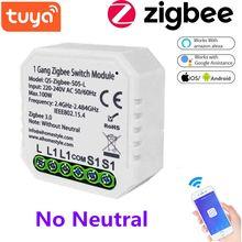 ZigBee Tuya Smart Switch Modul Relais EU 220V Keine Neutralen 1 Weg Drahtlose Licht Schalter Modul Mit Alexa Google hause