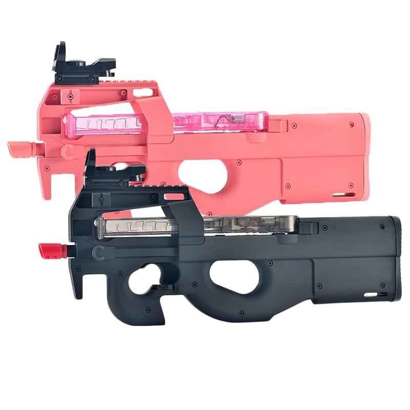 New P90 Nylon Edition Toy Gun For Boys Water Bullet Gun Electric Burst Machine Gun Pink Black Outdoor CS Battle Game Kids Gifts