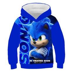 Толстовка с объемным капюшоном Sonic the ежик, детские толстовки, пуловеры с объемным капюшоном, верхняя одежда, спортивные костюмы для мальчик...