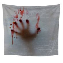 Tapestry Wall Hangings Horror Blood Hand Print Psychedelic Large Size