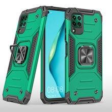 Dla Huawei P40 Lite pancerz odporny na wstrząsy Case dla Huawei P 40 Lite spadek ochronny obrońca magnes uchwyt pierścień skrzynki pokrywa