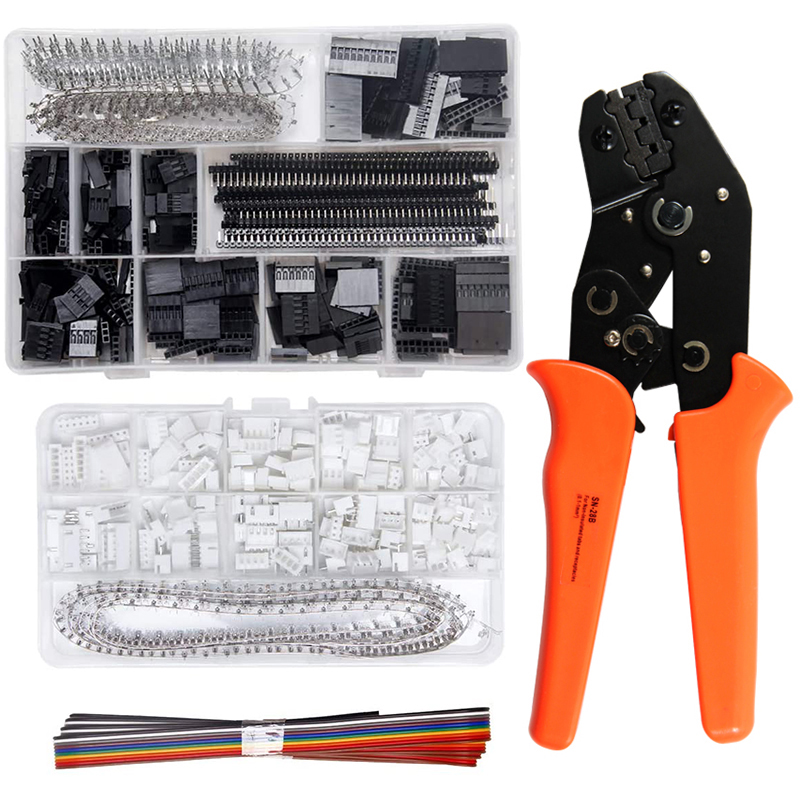 SN-28B Crimping Tool Crimper Plier 1550pcs Dupont Connector Kit And 460pcs JST-XH Terminals Set 2.54mm Pitch Female Pin Header