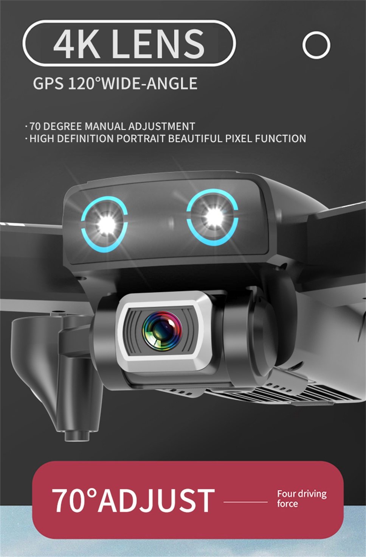 Лучшая камера Дрон 4K 1080P HD Двойная камера Следуйте за мной Квадрокоптер FPV Профессиональные с GPS длинная батарея жизни игрушка для детей