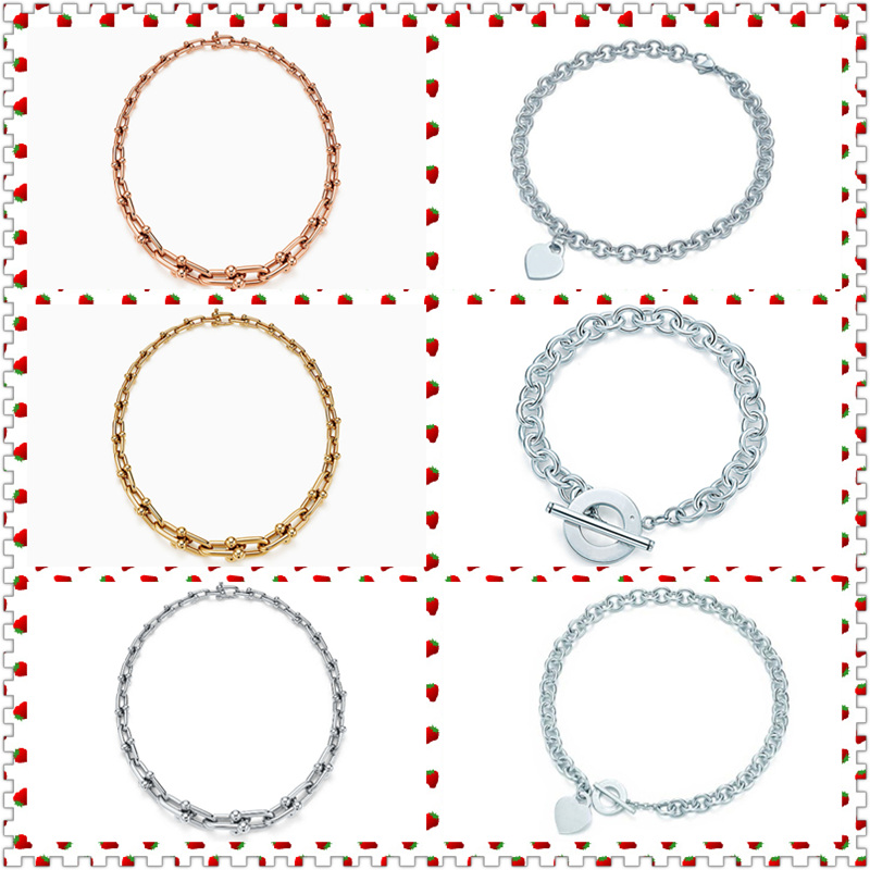 SHINETUNG TIFF Original 100% S925 en argent Sterling avec lien gradué en forme de coeur collier à la mode femmes Logo bijoux fins haut de gamme