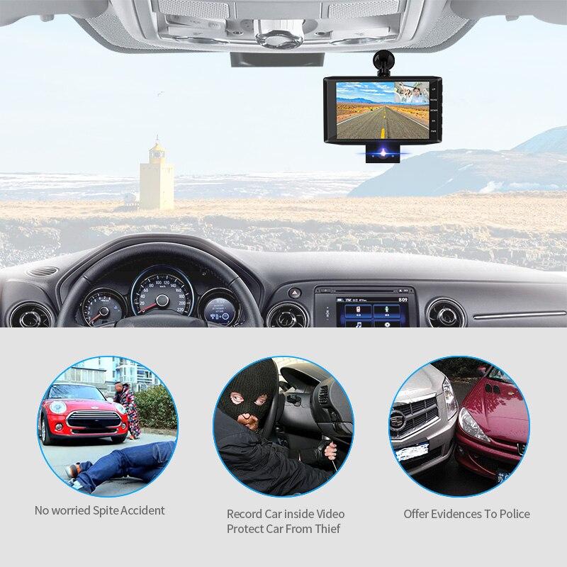 E-ACE B13 Auto Dvr 4,0 Inch Dash Cam 3 Kameras Objektiv Kanzler FHD 1080P Video Recorder Mit rückansicht kamera DVRs Dash Kamera