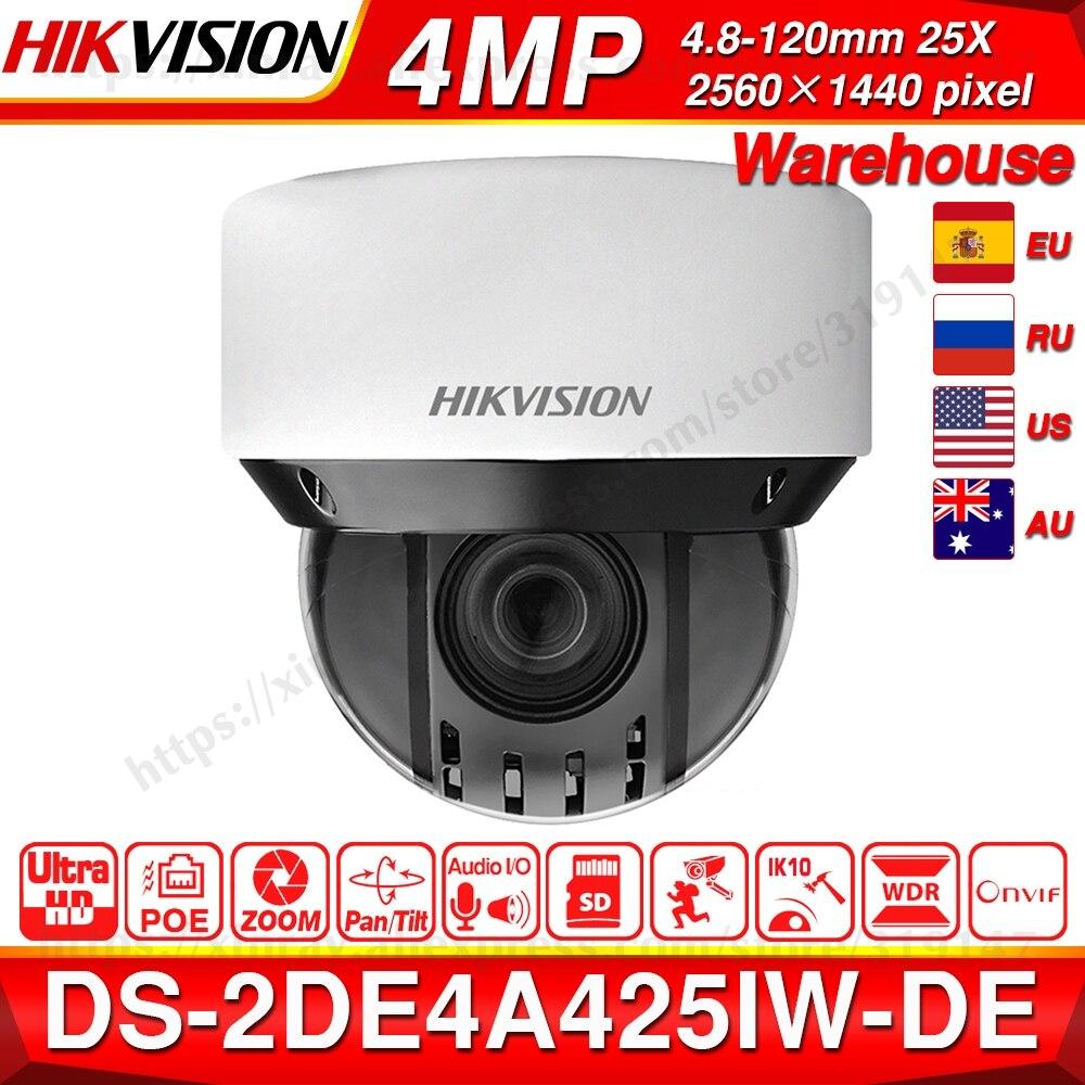 Pré-vente Hikvision Original PTZ IP caméra DS-2DE4A425IW-DE 4MP 4-100mm 25X zoom réseau POE H.265 IK10 ROI WDR DNR